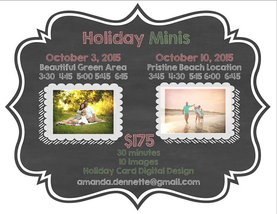 Jacksonville FL Photographer Holiday Mini Ad